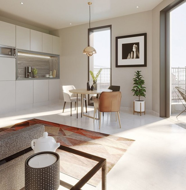 Internal CGI of an apartment in The Residence