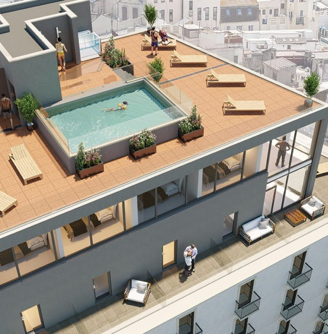 CGI of The Residence Roof Terrace